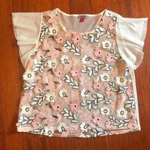 Vince Camuto Pink Sequin Top L